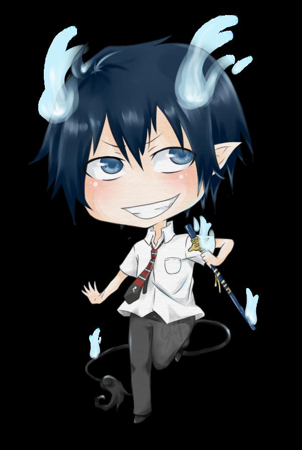 Rin Okumura Demon Form Chibi