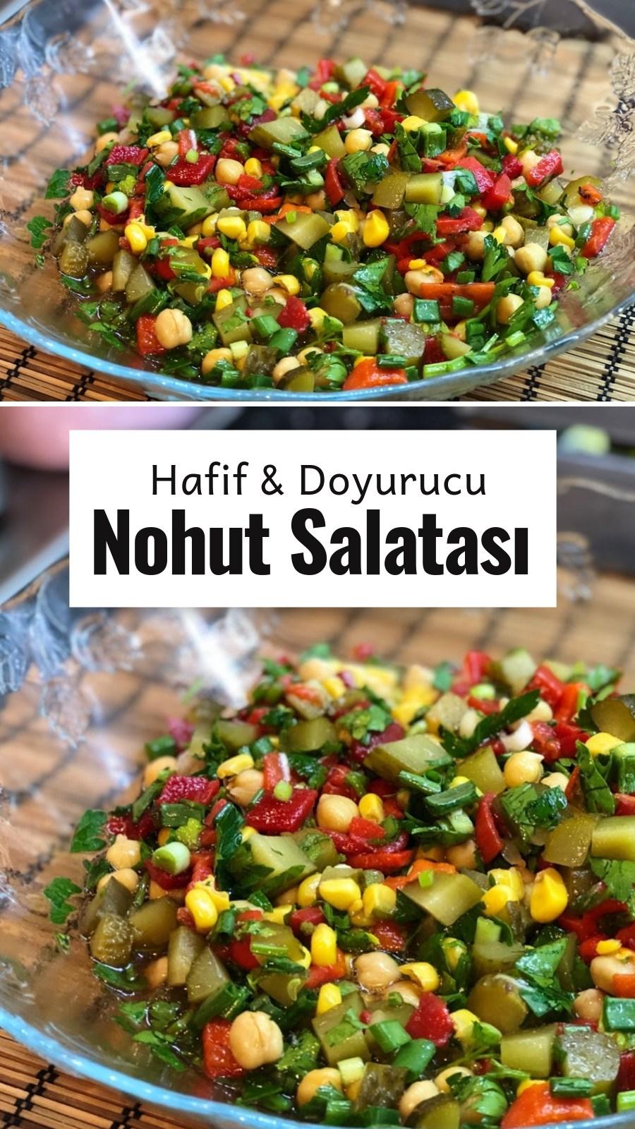 Nohut Salatası Videolu  Nefis Yemek Tarifleri