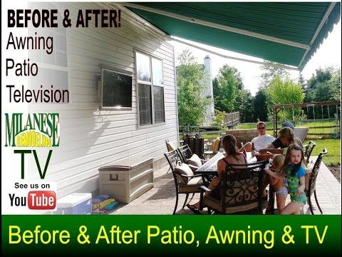 Change Deck Into Patio With Tv Awning More Patio Awning Patio Patio Stones