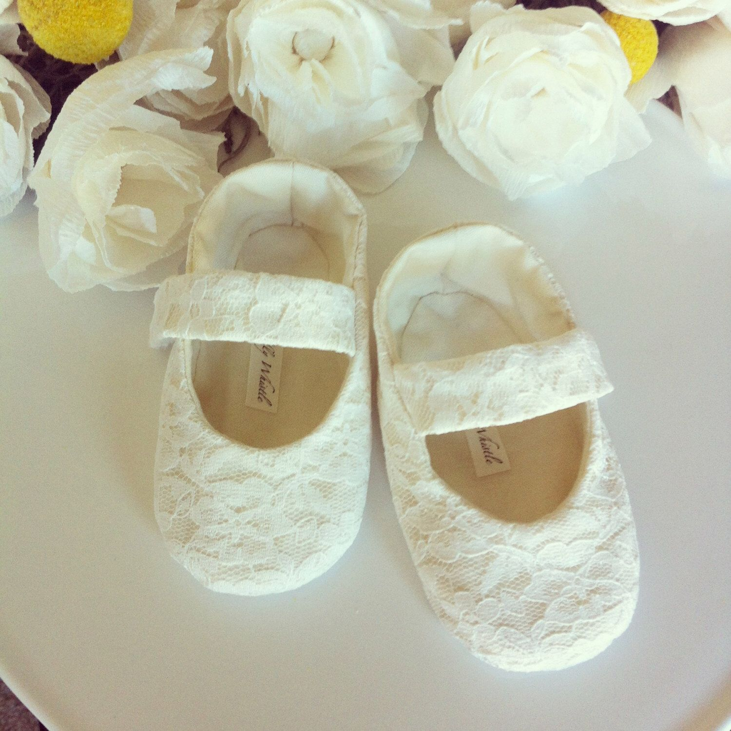 Lace Flower Girl Shoes Baby Girl Shoes Toddler Girl Shoes Ivory