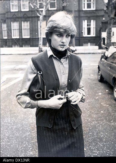 Diana Princess Of Wales Aged 19 Before Her Stock Photo
