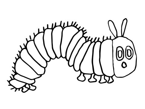 20+ Free Printable The Very Hungry Caterpillar Coloring Pages ... | 360x480