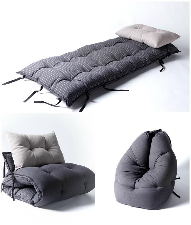pingl par magali leclerc sur astuces deco mobilier peu encombrant canap matelas et. Black Bedroom Furniture Sets. Home Design Ideas