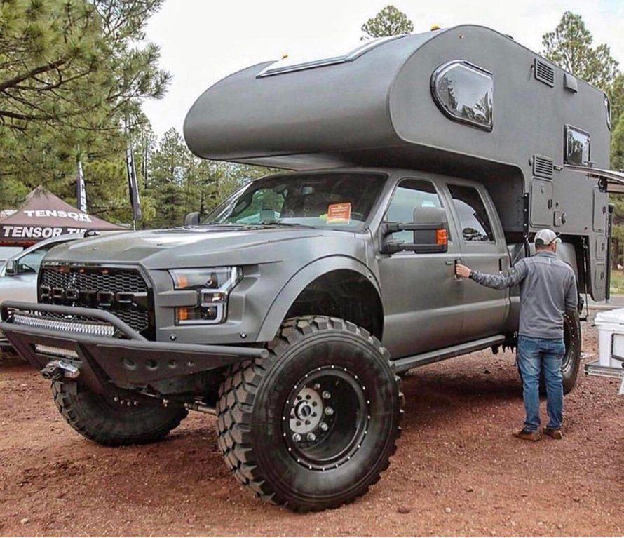 A Slide In Camper To Match The Truck Awesomecarmods Slide In Camper Slide In Truck Campers Overland Truck
