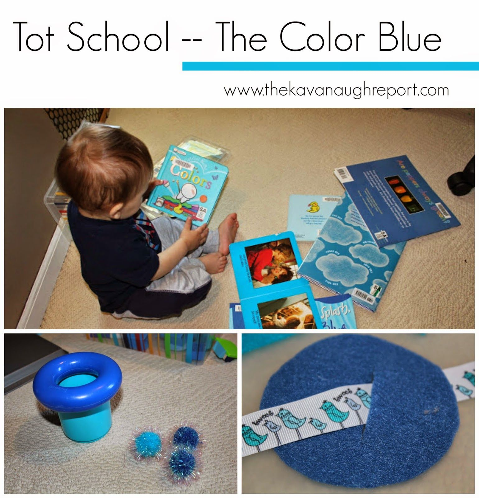 Blue Worksheets For Kindergarten