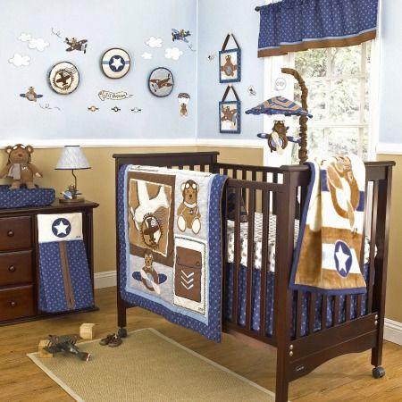 Airplane Teddy Bear Nursery Decor Collection Babyboynursery
