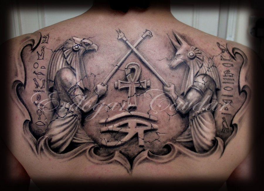 anubis horus tattoo by erdogancavdar tattoos. Black Bedroom Furniture Sets. Home Design Ideas