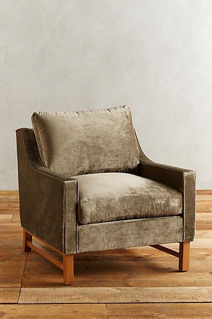 Slub Velvet Dorada Chair, Taupe Color