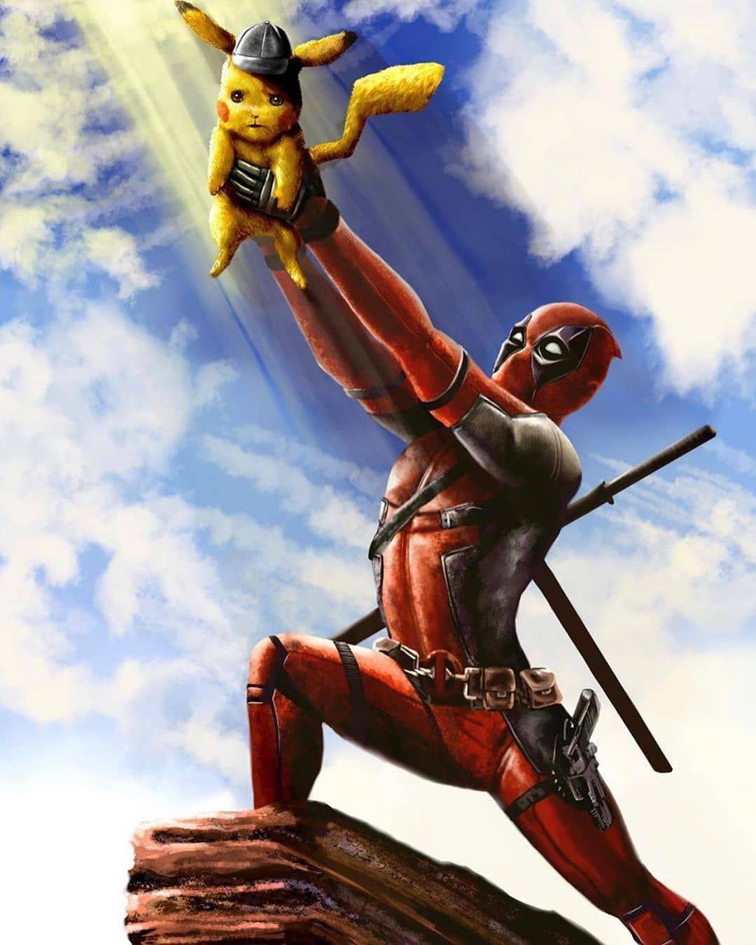 Artist Tgcomics512 Deadpool Pikachu Deadpool Star Trek Star Wars Art Darth Vader Boba Fett Star In 2020 Deadpool Pikachu Marvel Superhero Posters Deadpool Wallpaper