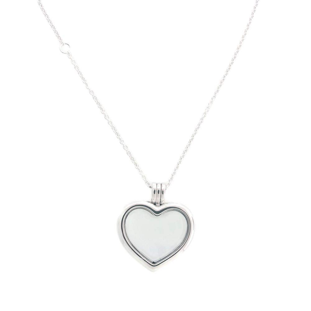 e91d9911b7a616 PANDORA Floating Heart Locket Sapphire Crystal Glass & Clear CZ 590544-60  (eBay Link)