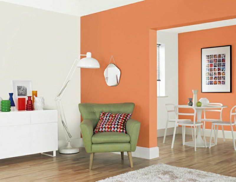 40 moderne Wandfarben Ideen für das Wohnzimmer Lifestyle - ideen fur wohnzimmer streichen