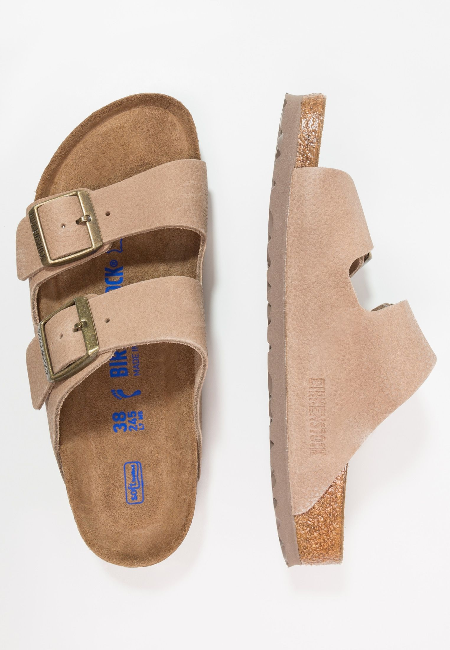 4b2634e81 ARIZONA SOFT FOOTBED NARROW FIT - Mules - steer taupe   ZALANDO.FR ...