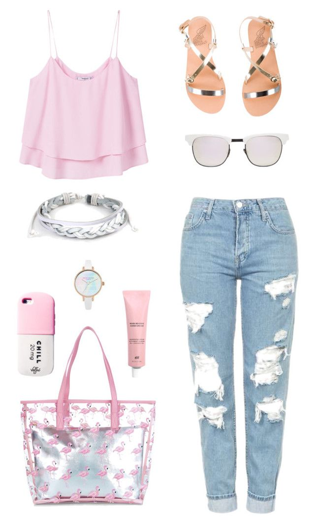 """""""#43 Casually Lovely"""" by jocelynleebold on Polyvore featuring MANGO, Topshop, New Look, Ancient Greek Sandals, Westward Leaning, Valfré and West Coast Jewelry"""