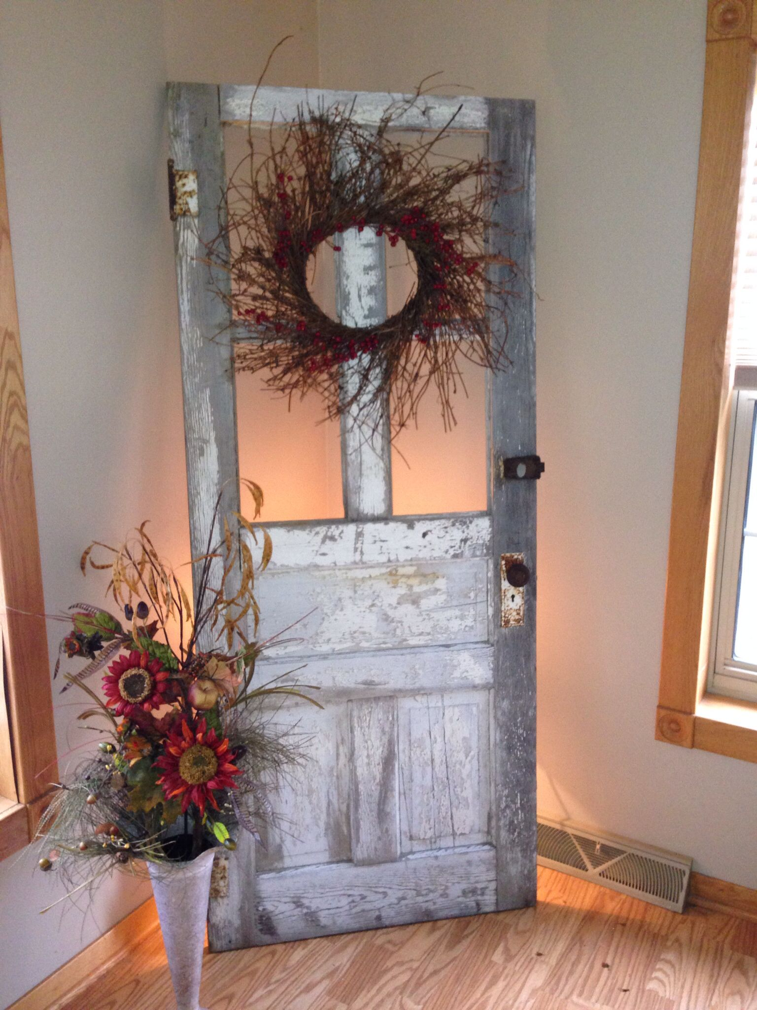 Julie's old door decor | Decor | Old door decor, Vintage ...
