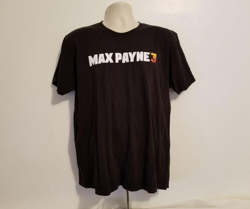 Rockstar Games Max Payne 3 Adult Black XL T-Shirt #Rockstar #GraphicTee