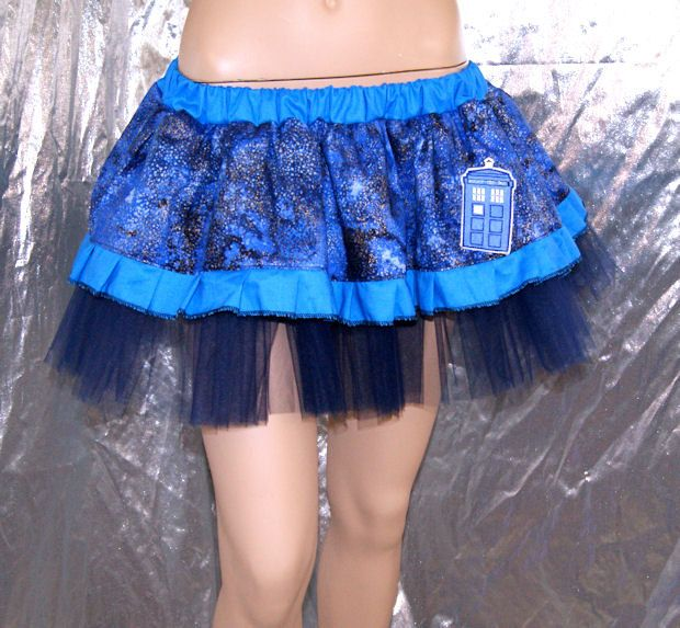Blue Tardis Dr Who Embroidered TuTu adult all Sizes MTCoffinz. $45.00, via Etsy.