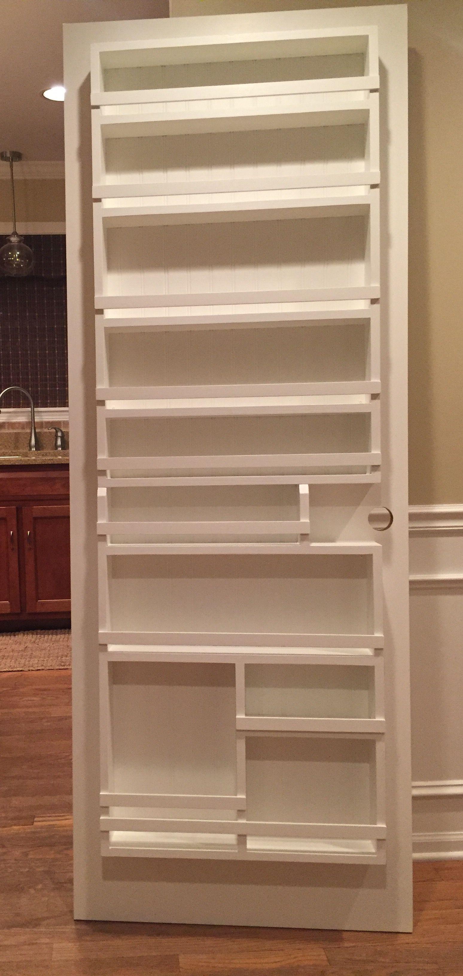 Diy Pantry Door Spice Rack Pantry Door Storage Kitchen Pantry Doors Pantry Door Organizer
