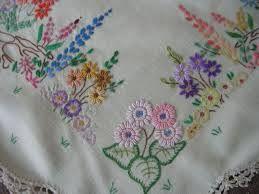 bordado mão livre guardanapo