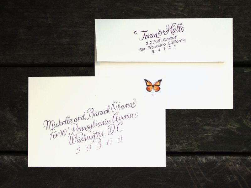 Custom Wine Harvest Wedding Invitation Outer Envelope With