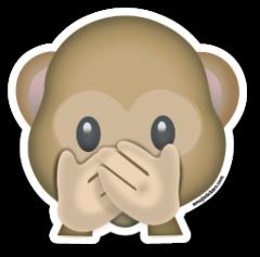 Speak No Evil Monkey Emojistickers Com Emoticones De Whatsapp Emoticonos Emoticones Emoji