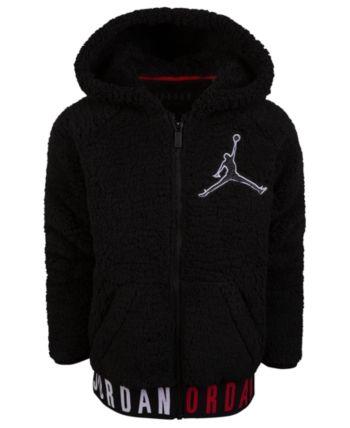 88bb5f80409f0f Jordan Big Boys Air Jordan Jumpman Zip-Front Hoodie - Black L (14 16)