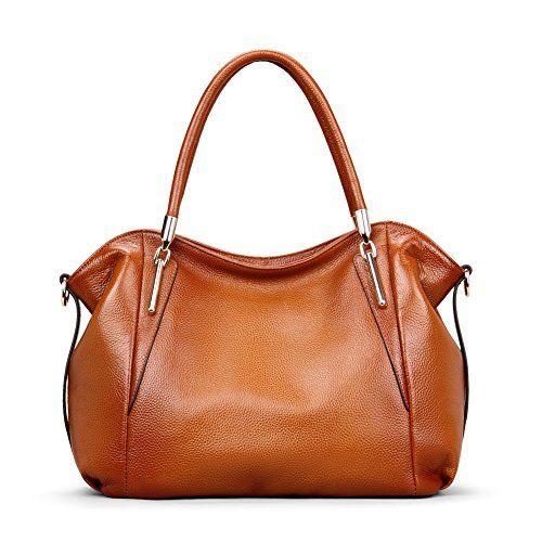 Kattee Women's Vintage Genuine Leather Hobo Tote Shoulder Bag