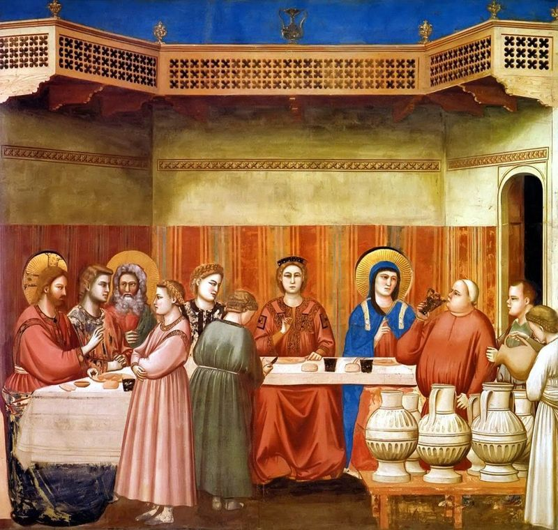 Marriage In Cana Of Galilee By Giotto Medieval Art Renaissance Art Art