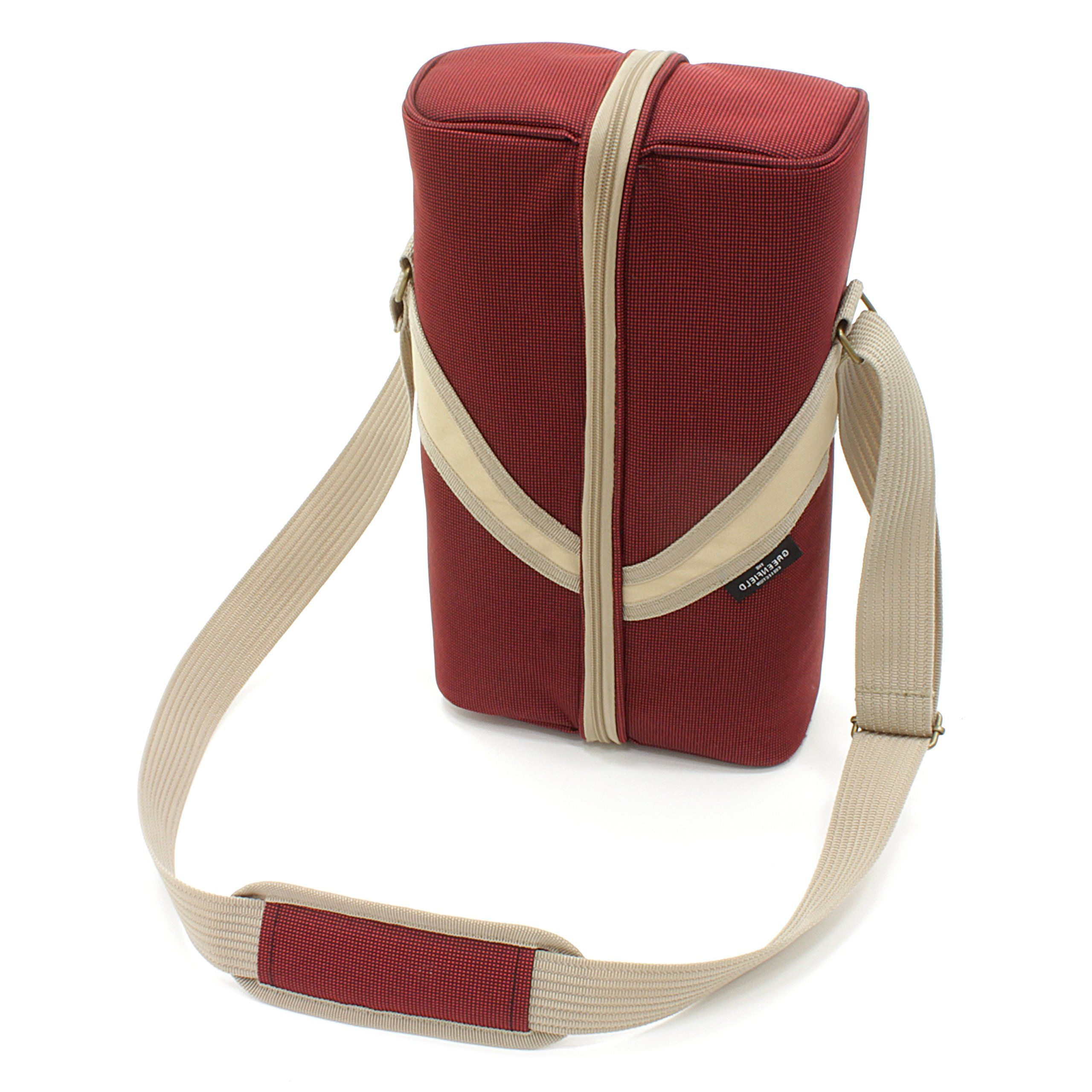 Greenfield Collection Deluxe Mulberry Red Wine Cooler Bag For Two People Want To Know More Click On The Image This Is An In 2020 Red Wine Cooler Cooler Bag Bags