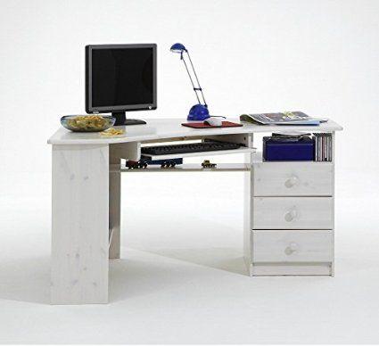 Steens Eck Schreibtisch Kent 279 Kiefer Massiv White Wash Amazon De Burobedarf Schreibwaren Eckschreibtisch Tisch Schreibtisch