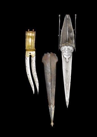 Two steel push Daggers (khatar) India, 19th Century(2)   Stuff to