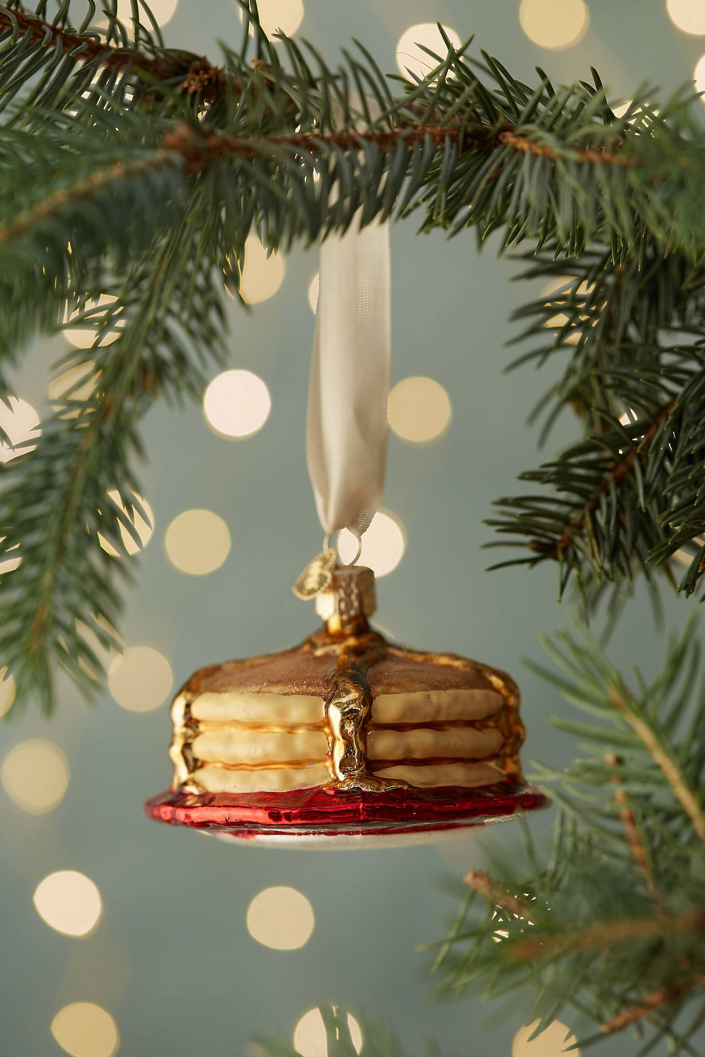 Short Stack Glass Ornament in 2020 Glass ornaments