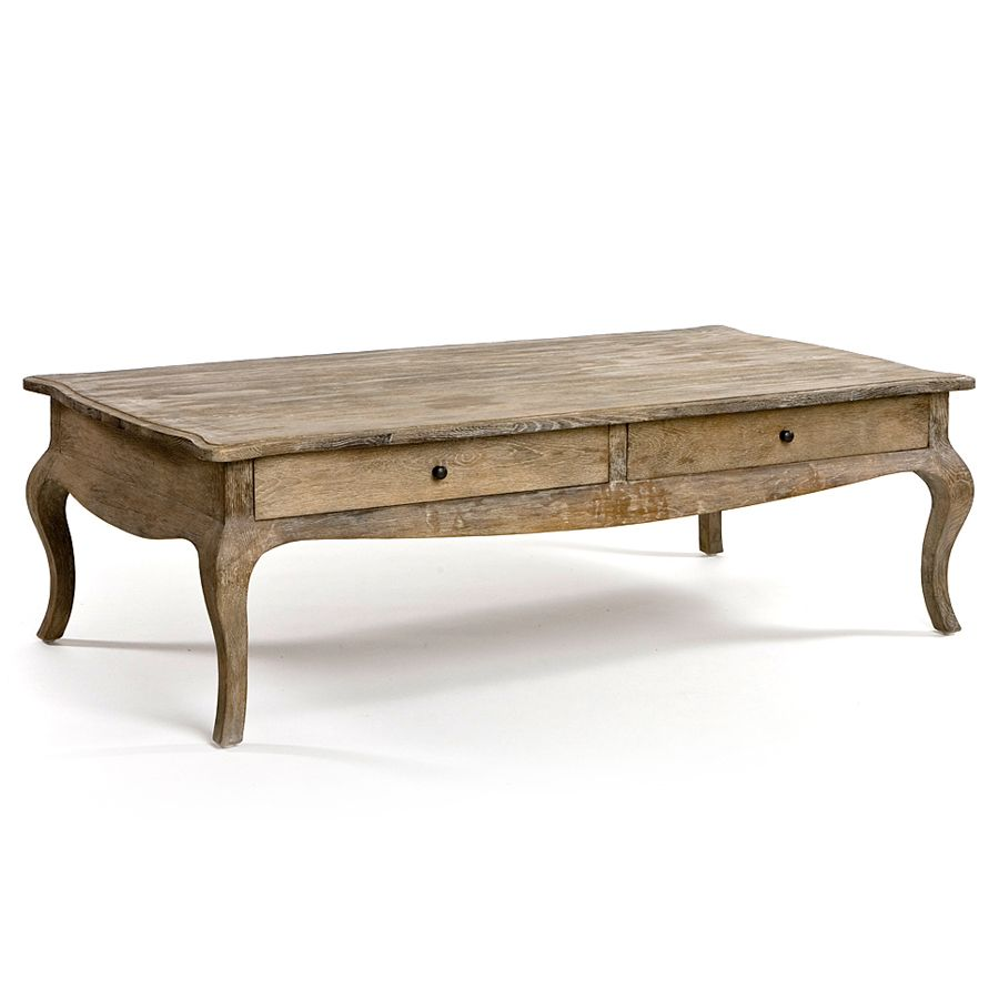 Wood coffee tables with drawers - Nice To Have The Drawers For Storage Weathered French Wood Coffee Table Cabriole Legs