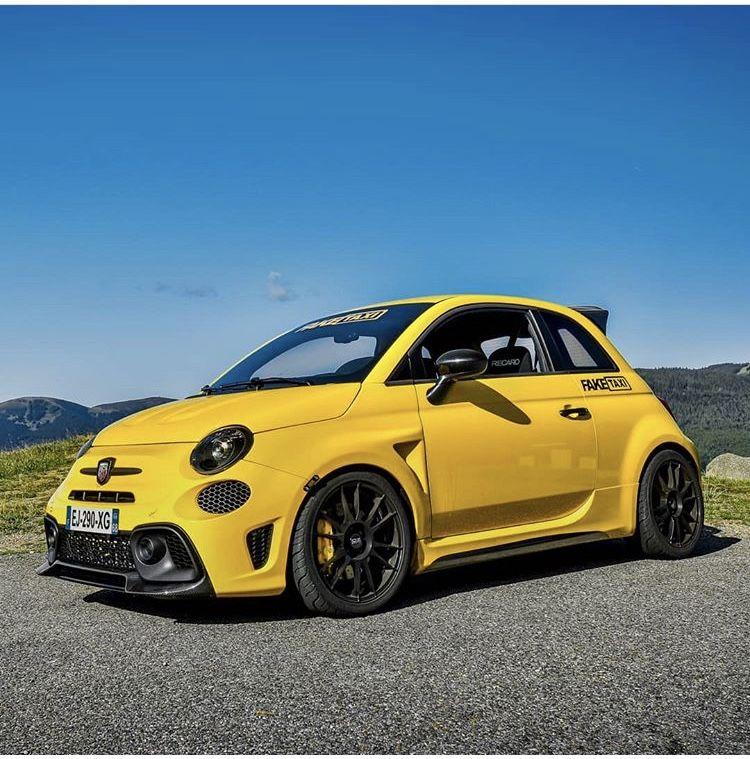 Abarth Yellow 595 Fiat 500, Small sports cars, Fiat