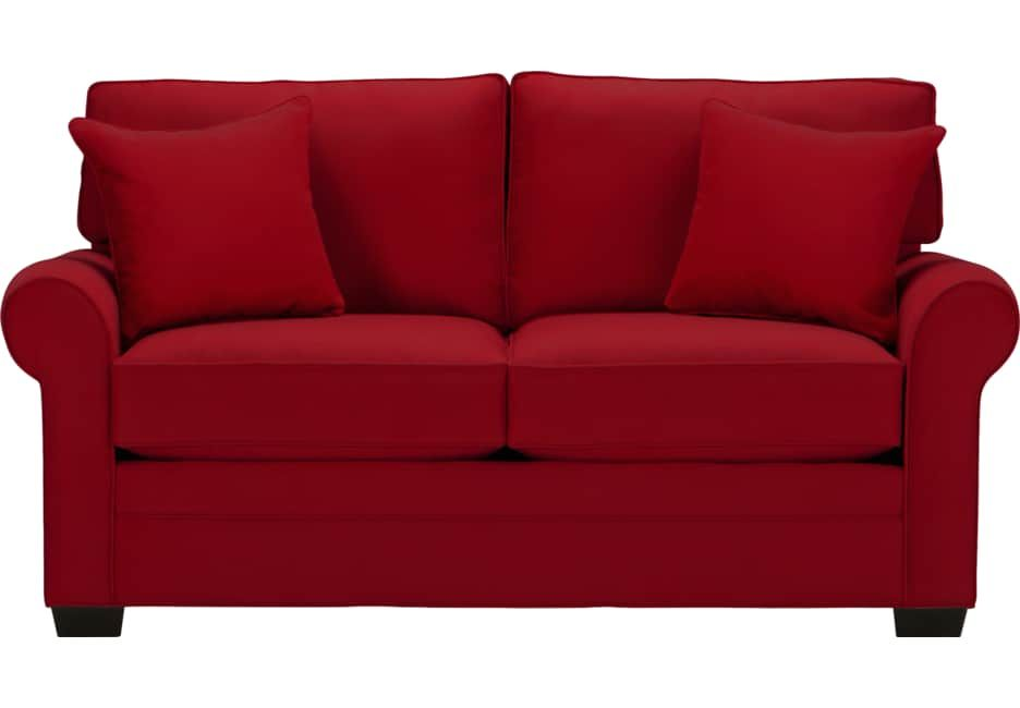 Cindy Crawford Home Bellingham Cardinal Sleeper Loveseat Sleepers Red Cindy Crawford Home Red Sofa Love Seat