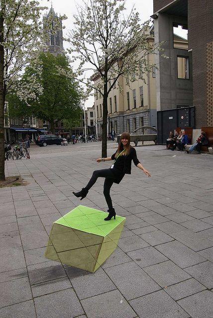 Off balance - Leon Keer, 3d street art for Springdance 2011.