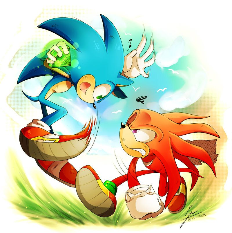 .:PC:. Come and get it~ by pandalana.deviantart.com on @deviantART Sonic and Knuckles
