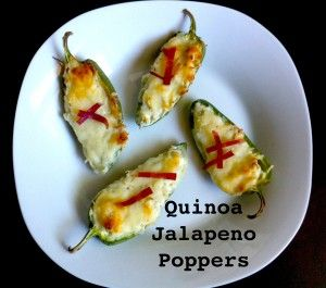 Quinoa Jalapeno Poppers! These are healthy, easy to make & the best!