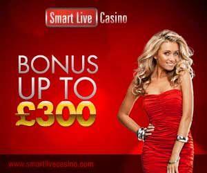 SmartLive Casino: 150% match bonus up to £300   Casinos   BetComparative.com
