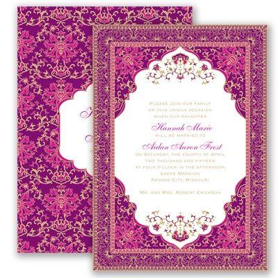 Persian Poppy Wedding Invitation