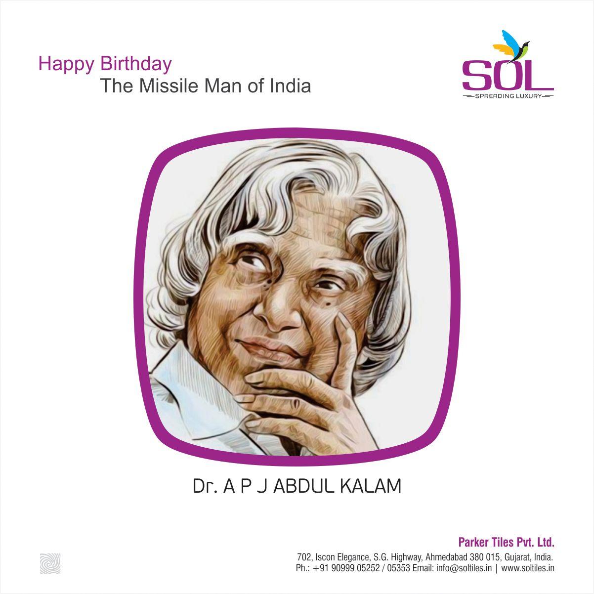 Happy Birthday to Missile Man of India abdulkalam happy