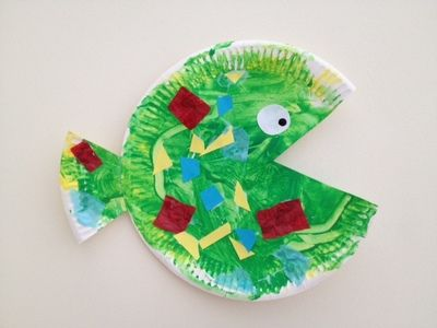 paper plate fish ocean toddler preschool craft kids & paper plate fish ocean toddler preschool craft kids | Mina ...