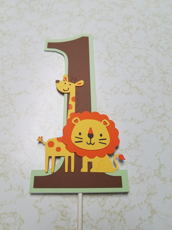 Safari Cake Topper, Jungle Cake Topper, Lion Cake Topper, Giraffe