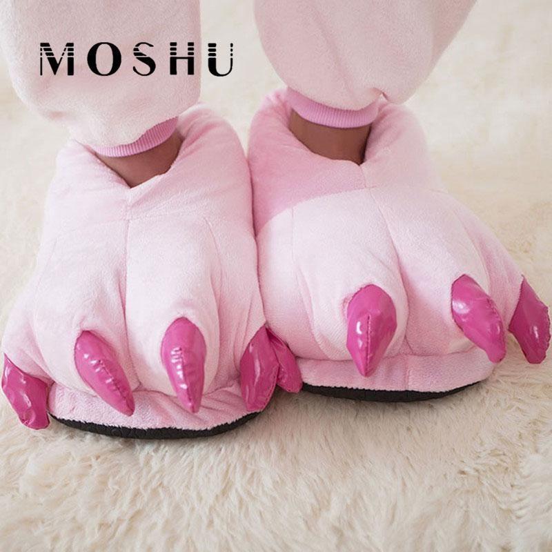 Photo of Funny Animal Paw Cute Plush Winter Men Women & Children Slippers