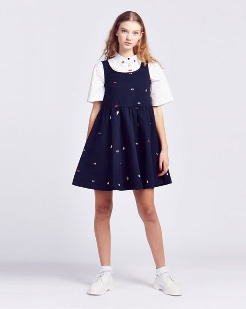 Lazy Oaf Body Parts Denim Dress - View all - NEW IN - Womens