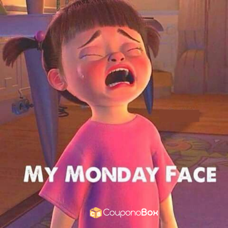 When you realize tomorrow is Monday 🤣 CouponoBox USA