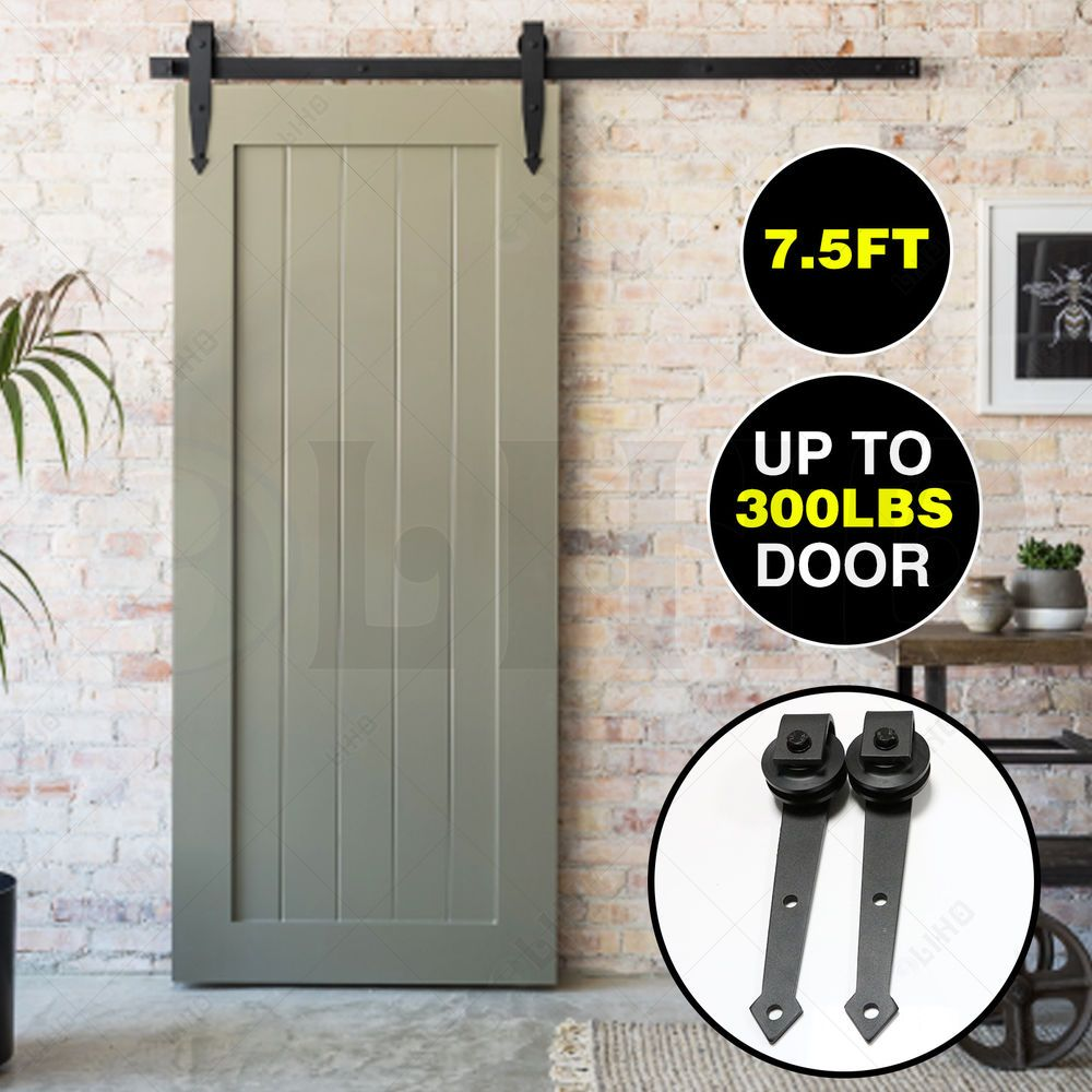 7 5ft Sliding Barn Wood Door Hardware Stainless Steel Track Set Closet Arrow Liho Interior Barn Doors Sliding Door Hardware Barn Door
