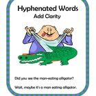 Center Activity featuring Hyphenated Words, for small groups or independent station work during guided reading. Students read two sentences, one wi...