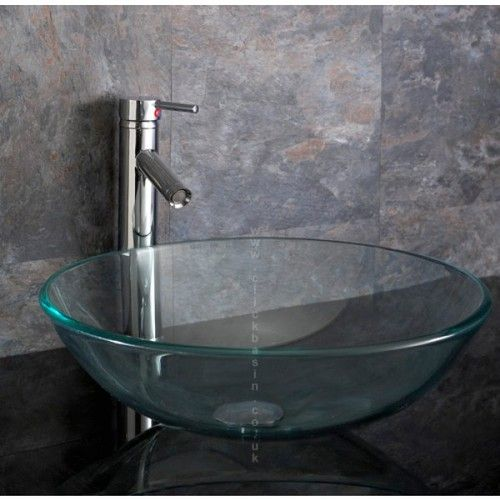 Bathroom Vanity Clear Glass Bath Vessel Sink Bowl Basin Glass Basin Vessel Sink Bowls Glass Sink