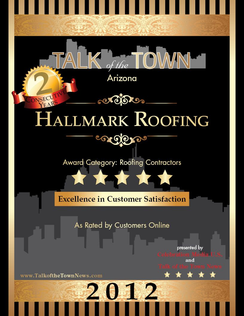 Talk of town 5 star award for excellent customer service