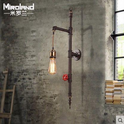 Aliexpress.com: Koop nordic loft industriële edison wandkandelaar vintage wandlamp creatieve waterleiding woonkamer trap lamp voor binnenverlichting van betrouwbare pipe-kaart leveranciers op JIAYOU LED LIGHTING